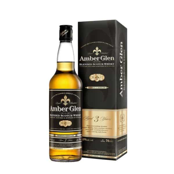 Amber Glen Blended Scotch Whisky & Mono Carton
